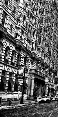 Urban Canyon - Philadelphia -  Triptych 1 Poster by Bill Cannon
