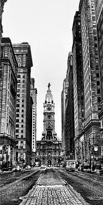 Urban Canyon - Philadelphia -  Triptych 2 Poster by Bill Cannon