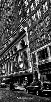 Urban Canyon - Philadelphia -  Triptych 3 Poster by Bill Cannon