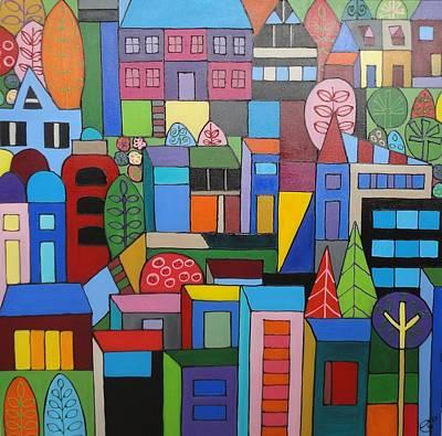 Urban Cityscape 1 Poster