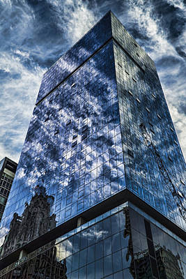 Urban Clouds Reflecting  Poster