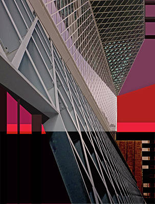 Poster featuring the digital art Urban Sunset by Walter Fahmy