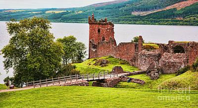 Urquhart  Castle Scotland Poster