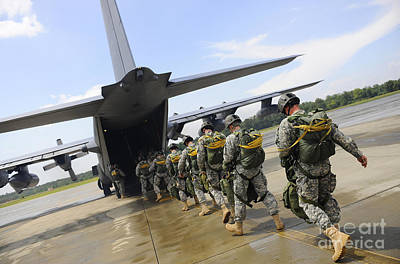 U.s. Army Rangers Board A U.s. Air Poster by Stocktrek Images