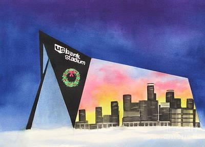 Us Bank Stadium Poster by Deborah Ronglien