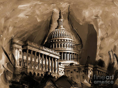 Capitol Building, Washington, D.c-001 Poster by Gull G