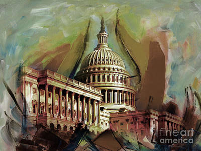 Capitol Building, Washington, D.c -006 Poster by Gull G