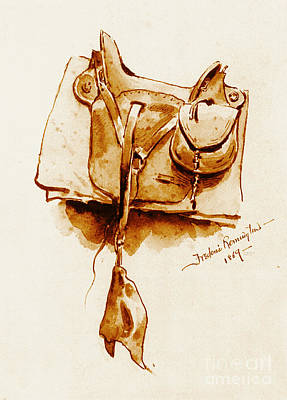 Us Cavalry Saddle 1869 Poster