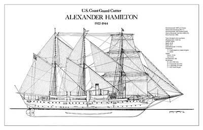 U.s. Coast Guard Cutter Alexander Hamilton Poster by Jose Elias - Sofia Pereira