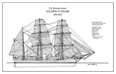 U.s. Coast Guard Revenue Cutter Salmon P. Chase Poster by Jose Elias - Sofia Pereira