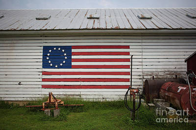 Us Flag Barn Poster