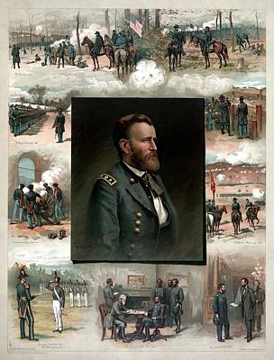 Us Grant's Career In Pictures Poster by War Is Hell Store