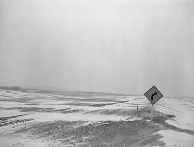 U.s. Highway 12 Obscured By Snow Drifts Poster