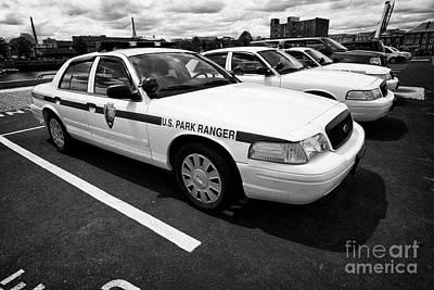 Us National Park Service U.s. Park Ranger Ford Crown Vic Vehicle Boston Usa Poster