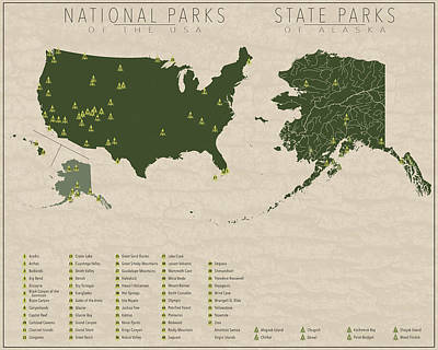 Us National Parks - Alaska Poster