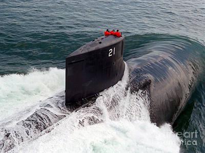 U.s. Navy Attack Submarine Uss Seawolf Poster by Stocktrek Images