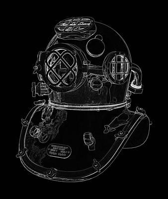 Us Navy Diving Helmet Mark V Poster