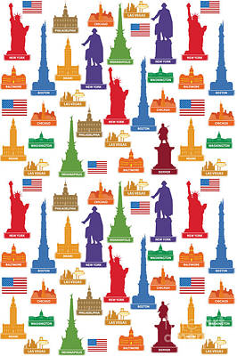 Usa Famous City Poster