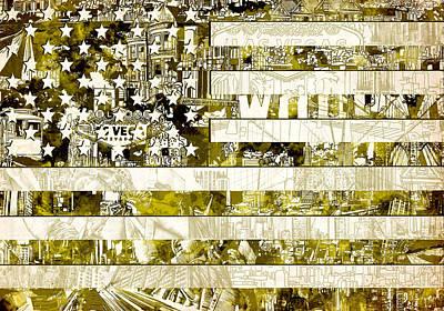 Usa Flag 13 Poster by Bekim Art
