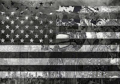 Usa Flag 4 Poster