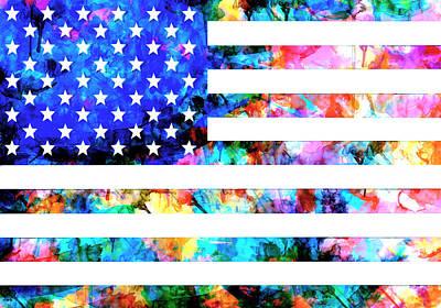Usa Flag 6 Poster