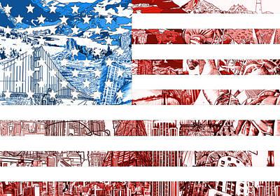 Usa Flag Poster by Bekim Art
