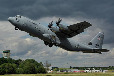 Poster featuring the photograph Usaf Lockheed-martin C-130j-30 Hercules  by Tim Beach