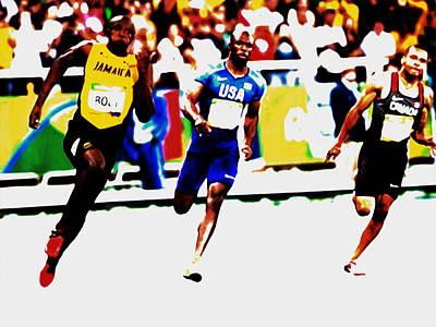 Usain Bolt 2016 Rio Olympics Poster