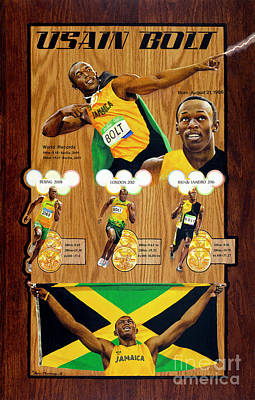 Usain Bolt Poster by Gary Thomas