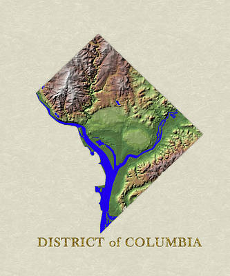 Usgs Map Of District Of Columbia Poster