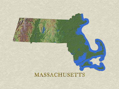 Usgs Map Of Massachusetts Poster
