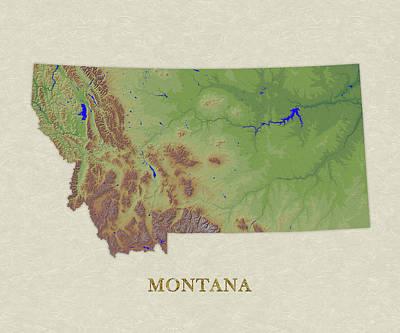 Usgs Map Of Montana Poster