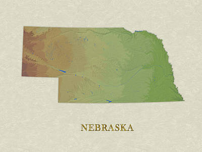 Usgs Map Of Nebraska Poster