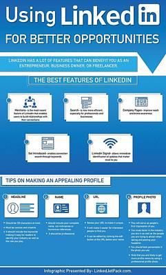 Using Linkedin For Better Opportunities Poster by Tipsfor Using