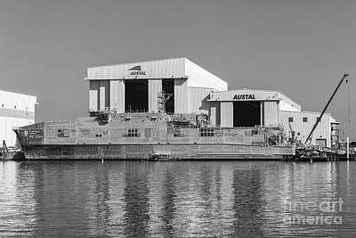 Usns Yuma At Austal Shipyard II Poster by Clarence Holmes