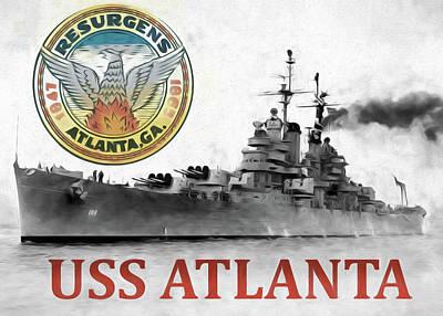 Uss Atlanta Poster by JC Findley