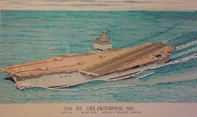 Uss Enterprise Cvn 65 Poster