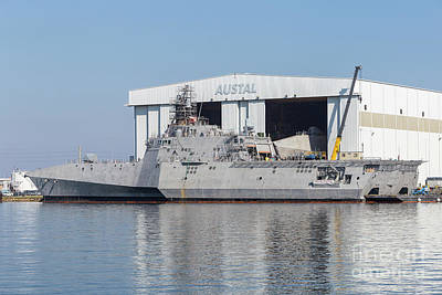 Uss Manchester At Austal Shipyard I Poster by Clarence Holmes