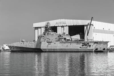 Uss Manchester At Austal Shipyard II Poster by Clarence Holmes