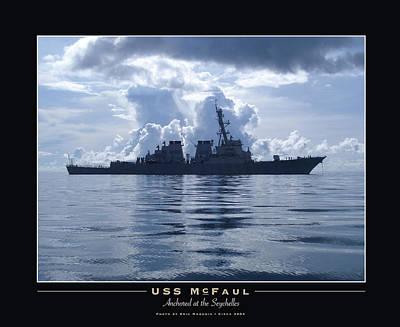 U.s. Navy Destroyer Silhouette Poster