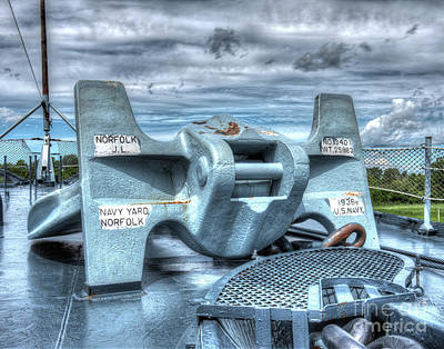 Uss North Carolina, Bb 55, Anchor Poster