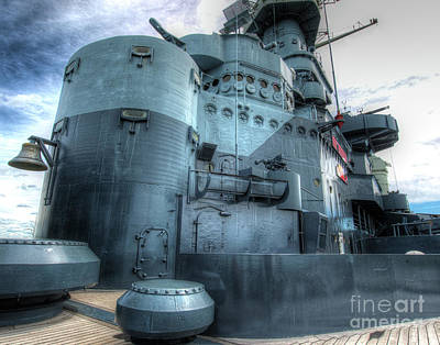 Uss North Carolina, Bb 55, Conning Tower, 16 Inches Of Steel Poster