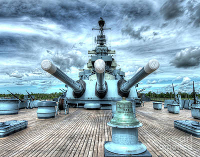 Uss North Carolina, Bb 55, Stern, 16 Inch Guns Poster