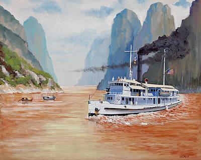 Uss San Pablo On Yangtze River Patrol Poster by Glenn Secrest