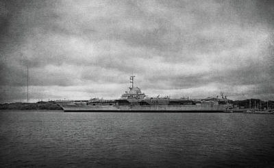 Poster featuring the photograph Uss Yorktown by Sandy Keeton