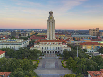 Ut Tower Aerial View On A January Morning 1 Poster