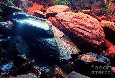 Utah - Emerald Pool Boulders Poster