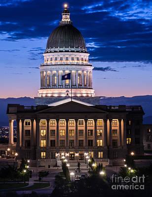 Utah Capitol Sunset - Salt Lake City Poster