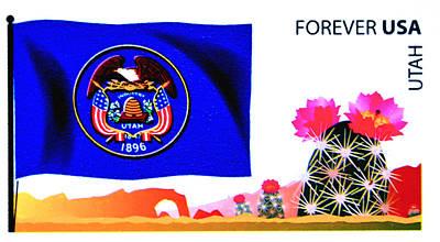Utah Flag  Poster