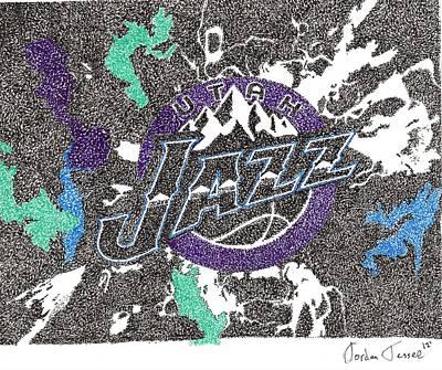 Utah Jazz Poster by Jordan Jessee